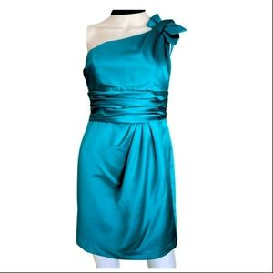 Teal prom or party dress size 2 like new!